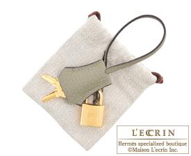 Hermes Birkin bag 30 Sauge Clemence leather Gold hardware