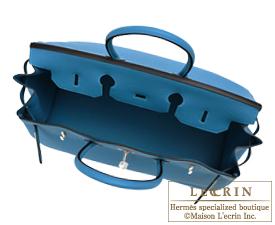 Hermes Birkin bag 30 Cobalt Togo leather Silver hardware
