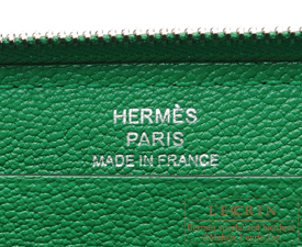 Hermes Azap long Bambou Togo leather Silver hardware
