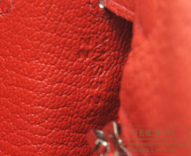 Hermes Kelly bag 25 Geranium Togo leather Silver hardware