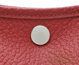 Hermes Garden Party bag TPM Rouge grenat Country leather Silver hardware