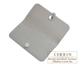 Hermes Dogon LONG Gris mouette Togo leather Silver hardware