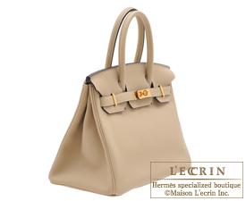 Hermes Birkin bag 30 Trench Togo leather Gold hardware
