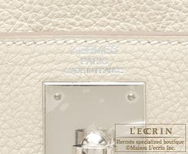 Hermes Kelly bag 28 Craie Togo leather Silver hardware