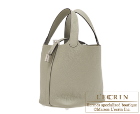 Hermes Picotin Lock bag PM Sauge Clemence leather Silver hardware