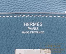 d28736096c99 good hermes birkin bag 30 blue jean togo leather silver hardware 330ff 60e1b