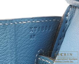 Hermes Birkin bag 30 Blue jean Togo leather Silver hardware