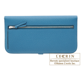 Hermes Dogon LONG Cobalt Togo leather Silver hardware