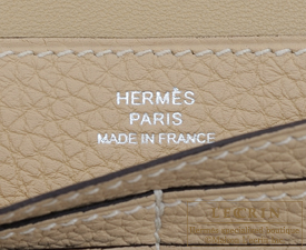 Hermes Dogon LONG Trench Togo leather Silver hardware