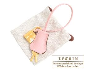 Hermes Birkin bag 30 Rose sakura/Etoupe grey Chevre myzore goatskin Gold hardware