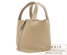 Hermes Picotin Lock bag GM Trench Clemence leather Silver hardware