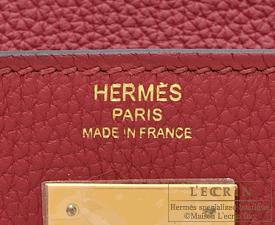 c6416ba6f4 Hermes Kelly bag 28 Retourne Rouge grenat Togo leather Gold hardware ...