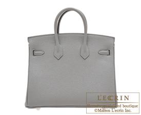 Hermes Birkin bag 25 Gris mouette Togo leather Silver hardware
