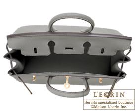 Hermes Birkin bag 25 Gris mouette Togo leather Gold hardware