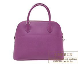 Hermes Bolide bag 31 Anemone Epsom leather Silver hardware