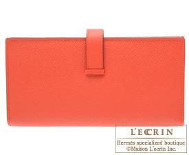 Hermes Bearn Soufflet Rose jaipur Epsom leather Champagne gold hardware