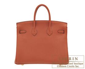 Hermes Birkin bag 25 Cuivre Togo leather Gold hardware