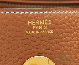 Hermes Lindy bag 30 Gold Clemence leather Gold hardware