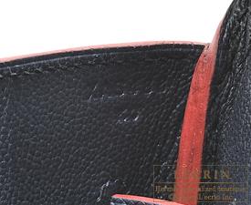 Hermes Birkin Contour bag 35 Blue indigo/Rouge H Epsom leather Gold hardware