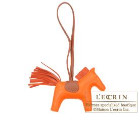 Hermes Rodeo charm Orange/Brique Agneau
