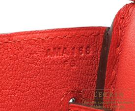 Hermes Birkin bag 30 Rouge tomate Epsom leather Silver hardware
