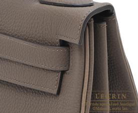 Hermes Kelly bag 28 Taupe grey/Etoupe grey Togo leather Matt silver hardware