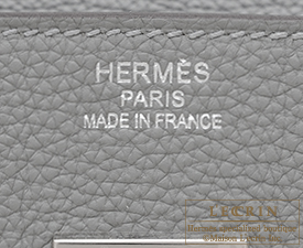 Hermes Birkin Verso bag 35 Gris mouette/Blue agate Togo leather Silver hardware