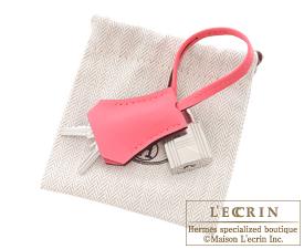 Hermes Birkin bag 25 Rose azalee Swift leather Silver hardware