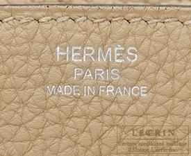 Hermes Birkin bag 25 Trench Togo leather Silver hardware
