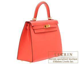 Hermes Kelly bag 25 Rose jaipur Epsom leather Gold hardware