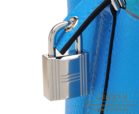 Hermes Picotin Lock bag PM Blue zanzibar Clemence leather Silver hardware