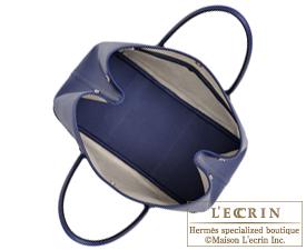 Hermes Garden Party bag TPM Blue saphir Epsom leather Silver hardware