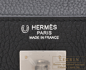 Hermes Personal Kelly bag 32 Black Togo leather Silver hardware