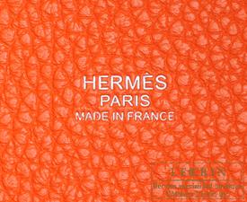 Hermes Picotin Lock bag MM Orange poppy Clemence leather Silver hardware