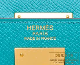 Hermes Kelly bag 32 Blue paon Epsom leather Gold hardware