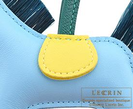 Hermes Rodeo charm Crin Celeste/Lime/Vert fonce Agneau/Horsehair