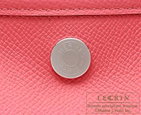 Hermes Garden Party bag TPM Rose azalee  Epsom leather Silver hardware