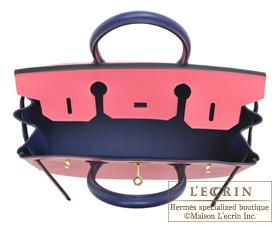 Hermes Birkin bag 30 Rose azalee/Blue saphir Epsom leather Gold hardware