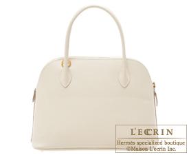 Hermes Bolide bag 27 Craie Epsom leather Gold hardware