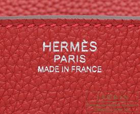 Hermes Birkin bag 30 Rouge vif Togo leather Silver hardware