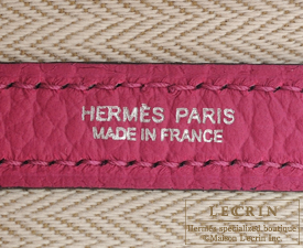 Hermes Garden Party bag TPM Rose purple Country leather Silver hardware