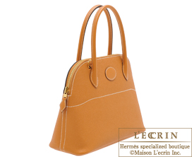 Hermes Bolide bag 27 Toffee Epsom leather Gold hardware