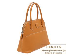 Hermes Bolide bag 27 Toffee Epsom leather Silver hardware