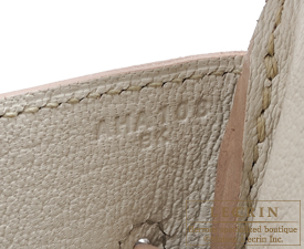 Hermes Birkin bag 35 Beton Clemence leather Gold hardware