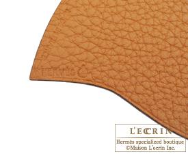 Hermes Petit H GM Heart Charm Shocking pink/Brown Calf/Silk