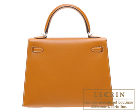 Hermes Kelly bag 25 Natural sable Butler leather Silver hardware