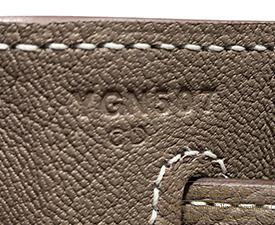 Hermes Kelly bag 32 Etoup grey Togo leather Silver hardware