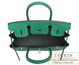 Hermes Birkin Verso bag 30 Vert vertigo/Vert fonce Clemence leather Silver hardware
