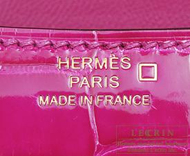 Hermes Constance mini Rose scheherazade Alligator crocodile skin Rose gold hardware