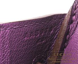 Hermes Birkin bag 30 Anemone Togo leather Matt gold hardware